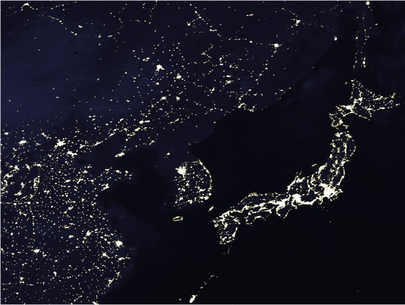 North Korea is Dark
